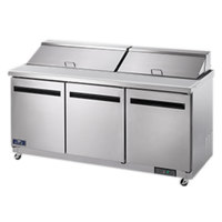 Arctic Air AST72R 72 inch 3 Door Refrigerated Sandwich Prep Table