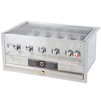 Crown Verity BI-36 Natural Gas 36 inch Stainless Steel Built In Outdoor BBQ Grill / Charbroiler