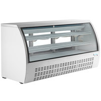 Avantco DLC82-HC-W 82 inch White Curved Glass Refrigerated Deli Case