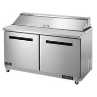 Arctic Air AST60R 61 1/4 inch 2 Door Refrigerated Sandwich Prep Table