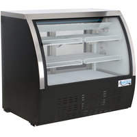 Avantco DLC47-HC-B 47 inch Black Curved Glass Refrigerated Deli Case