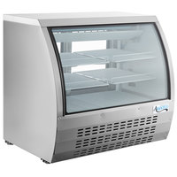 Avantco DLC47-HC-S 47 inch Stainless Steel Curved Glass Refrigerated Deli Case