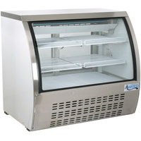 Avantco DLC47-HC-W 47 inch White Curved Glass Refrigerated Deli Case