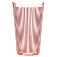 Carlisle 403352 12 oz. Orange Crystalon RimGlow Polycarbonate Tumbler - 48/Case