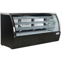 Avantco DLC82-HC-B 82 inch Black Curved Glass Refrigerated Deli Case