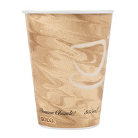 Dart Solo 412MSN-0029 12 oz. Mistique Single Sided Poly Paper Hot Cup - 1000/Case