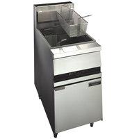 Anets 18E FRYERM GoldenFry Liquid Propane 70-100 lb. Floor Fryer with Millivolt Controls - 150,000 BTU