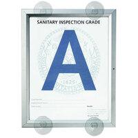 Aarco 8 1/2 inch x 11 inch Aluminum Window Mount Slide Frame