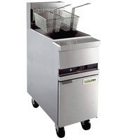 Anets MX-14C GoldenFry Natural Gas 35-50 lb. Floor Fryer with Computerized Controls - 111,000 BTU