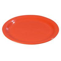 Carlisle 3301052 Sierrus 10 1/2 inch Sunset Orange Wide Rim Melamine Plate - 12/Case