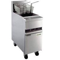 Anets MX-14M GoldenFry Natural Gas 35-50 lb. Floor Fryer with Millivolt Controls -111,000 BTU