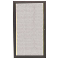 Aarco 36 inch x 24 inch Bronze Enclosed Aluminum Indoor / Outdoor Bulletin Board with LED Lighting
