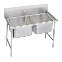 Advance Tabco 93-82-40 Regaline Two Compartment Stainless Steel Sink - 52 inch