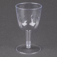 Fineline Flairware 2206 5 oz. Clear Plastic Wine Goblet - 360/Case