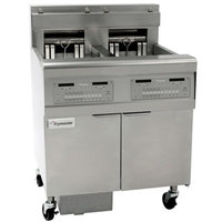 Frymaster FPEL214-CA Electric Floor Fryer with Two 30 lb. Frypots and Automatic Top Off - 208V, 3 Phase, 14 kW