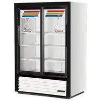 True GDM-33SSL-54-LD Low Profile Narrow Sliding Glass Door Refrigerated Merchandiser