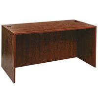 Alera ALEVA216030MC Valencia 59 1/8 inch x 29 1/2 inch Medium Cherry Straight Desk Shell