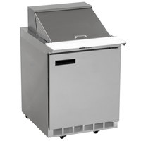 Delfield UC4427N-9M 27 inch 1 Door Mega Top Reduced Height Refrigerated Sandwich Prep Table
