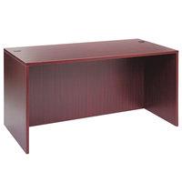 Alera ALEVA216030MY Valencia 59 1/8 inch x 29 1/2 inch Mahogany Straight Desk Shell
