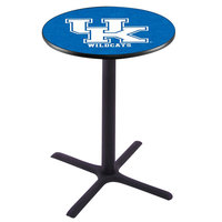 Holland Bar Stool L211B4228UKY-UK 28 inch Round University of Kentucky Bar Height Pub Table