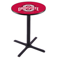 Holland Bar Stool L211B42OHIOST 28 inch Round Ohio State University Bar Height Pub Table