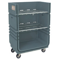 Metro CLT48A MetroTrux Convertible Linen Truck / Cart with 2 Fixed & 2 Swivel Casters and 2 Folding Wire Shelves - 48 cu. ft. Capacity