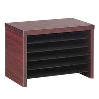 Alera ALEVA316012MY Valencia 15 3/4 inch x 10 inch x 11 inch Medium Mahogany File Organizer Shelf