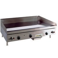 Anets TM24X36 Temp Master 36 inch Liquid Propane Countertop Griddle with Thermostatic Controls - 82,500 BTU