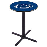 Holland Bar Stool L211B42PENNST 28 inch Round Penn State University Bar Height Pub Table