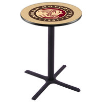 Holland Bar Stool L211B42INDN-HD 28 inch Round Indian Motorcycle Bar Height Pub Table