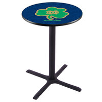 Holland Bar Stool L211B4228ND-SHM 28 inch Round University of Notre Dame Bar Height Pub Table