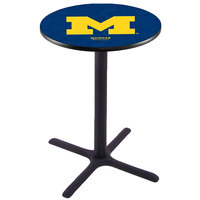 Holland Bar Stool L211B42MICHUN 28 inch Round University of Michigan Bar Height Pub Table