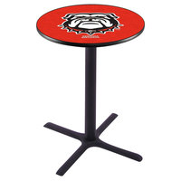 Holland Bar Stool L211B42GA-DOG 28 inch Round University of Georgia Bar Height Pub Table