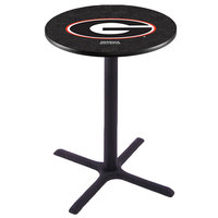 Holland Bar Stool L211B42GA-G 28 inch Round University of Georgia Bar Height Pub Table