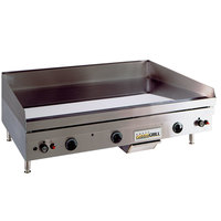Anets TM24X36 Temp Master 36 inch Natural Gas Countertop Griddle with Thermostatic Controls - 82,500 BTU