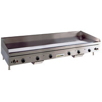 Anets TM24X72 Temp Master 72 inch Liquid Propane Countertop Griddle with Thermostatic Controls - 165,000 BTU