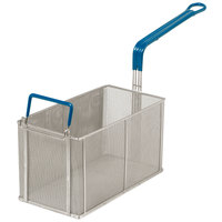 Anets P9800-93 15 1/4 inch x 8 1/4 inch x 9 inch Stainless Steel Split Pasta Basket