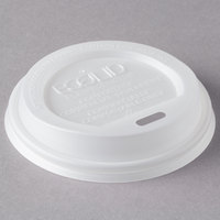 Eco Products EP-ECOLID-8 8 oz. Compostable Plastic Hot Cup Lid - 800/Case
