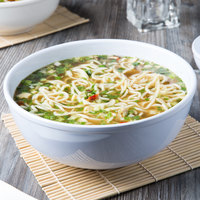 Thunder Group PH5010TW 88 oz. White Melamine Pho Noodle Bowl - 12/Pack