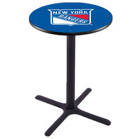 Holland Bar Stool L211B42NYRANG 28 inch Round New York Rangers Bar Height Pub Table