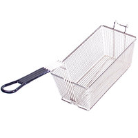 Anets A4500310 13 1/4 inch x 8 1/2 inch x 5 3/4 inch Twin Fryer Basket with Front Hook
