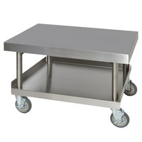 Anets AGS30X24 30 inch x 24 inch Stainless Steel Griddle Stand with Undershelf