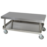 Anets AGS24X60 24 inch x 60 inch Mobile Stainless Steel Equipment Stand with Undershelf