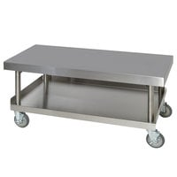 Anets AGS24X48 24 inch x 48 inch Stainless Steel Griddle Stand with Undershelf