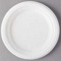 Eco Products EP-P011 7 inch Round White Compostable Sugarcane Plate - 1000/Case
