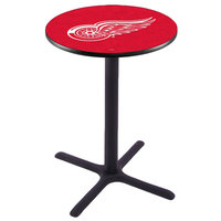 Holland Bar Stool L211B42DETRED 28 inch Round Detroit Red Wings Bar Height Pub Table