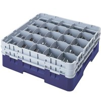 Cambro 25S1214186 Camrack 12 5/8 inch High Navy Blue 25 Compartment Glass Rack