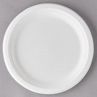 Eco Products EP-P013 9 inch Round White Compostable Sugarcane Plate - 500/Case