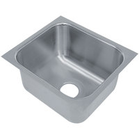 Advance Tabco 2020A-14A 1 Compartment Undermount Sink Bowl 20 inch x 20 inch x 14 inch