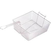 Anets P9800-09 13 3/4 inch x 12 1/4 inch x 5 1/2 inch Full Size Fryer Basket with Front Hook